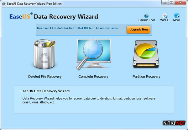 EASEUS Data Recovery Wizard Free Edition 5.8.5