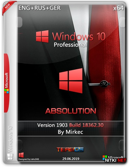 Windows 10 Pro x64 1903 Absolution by Mirkec (ENG+RUS+GER/2019)